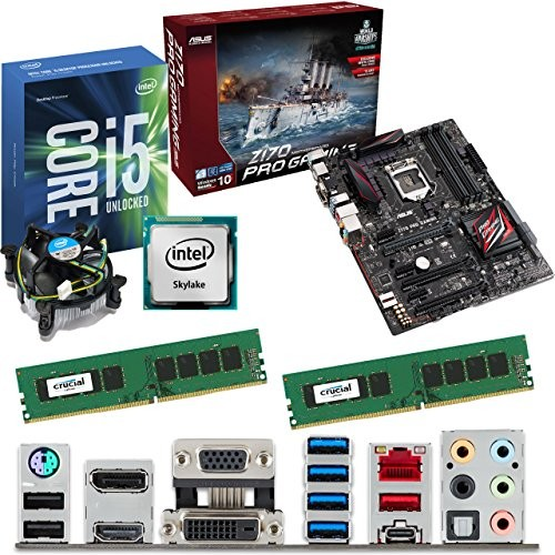 intel skylake core i5 6600k 3 5ghz asus z170 pro gaming. Black Bedroom Furniture Sets. Home Design Ideas